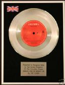 "THE CLASH 7"" Platinum Disc SHOULD I STAY OR SHOULD I GO"